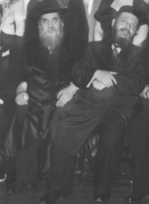 (left to right) Rabbi Moshe Langner, The Strettiner Rebbe; Rabbi Avraham Langner
