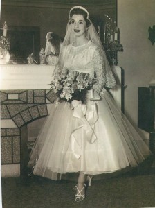 "Esther Perl z""l, on her wedding day"